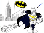 Batman Cartoon Coloring Gioco