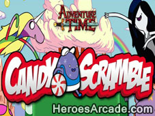 Adventure Time Candy Scramble game