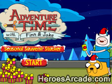 Adventure Time Seasonal Souvenir Stacker game