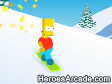 Bart Snowboarding game