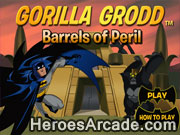 Batman Gorilla Grodd - Barrels of Peril game
