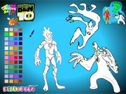 Play Ben 10 Alien Color game