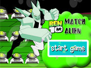 Play Ben 10 Alien Match game