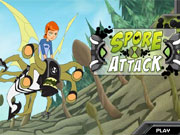 Play Ben 10 Spore Attack game
