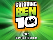 Color Ben 10 game