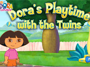 Play Dora Playtime With The Twins game
