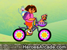 Play Dora Safe Bike game
