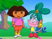 Play Dora Spooky Forest game