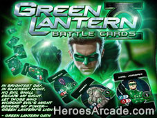 Play Green Lantern Battle Cards game