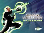 Green Lantern Space Escape game