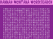 Play Hannah Montana Word Search game
