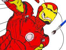 Play Iron Man Cartoon Coloring Game Online