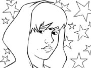Justin Bieber Coloring Page game