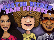 Play Justin Bieber Hair Defense game