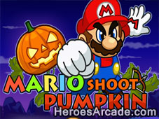 Play Mario Shoot Pumpkin game
