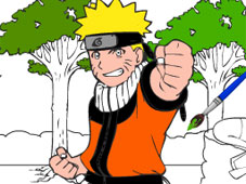 Play Naruto Cartoon Coloring game