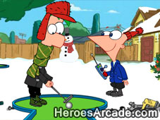 Phineas and Ferb Gadget Golf Winter Holiday Edition game