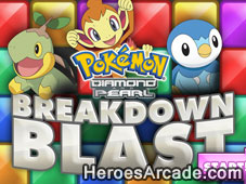 Pokemon Break Down Blast game