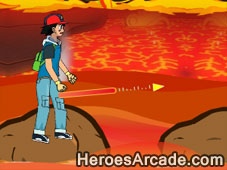 Pokemon Cross The Lava game