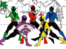 Play Power Rangers Cartoon Coloring game