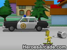 Simpsons Bart Naked Skate game