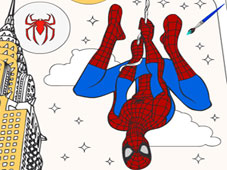 Play Spiderman Cartoon Coloring game