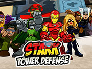 Play Superhero Squad Stark Tower Defense game