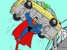 Play Superman Cartoon Coloring Game Online