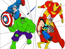 Play The Avengers Cartoon Coloring Game Online