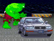 Play The Hulk Car Demolition game