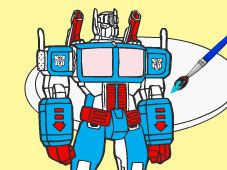 Play Transformers Cartoon Coloring game