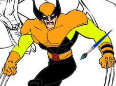 Play X Men Cartoon Coloring game