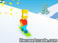 Bart Snowboarding game
