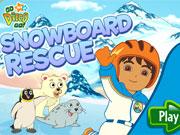 Diego Snowboard Rescue game
