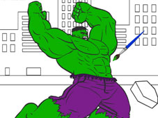 Hulk Cartoon Coloring game