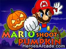 Mario Shoot Pumpkin game