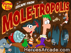 Phineas and Ferb Escape from Mole-Tropolis game