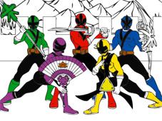 Power Rangers Cartoon Coloring game