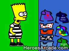 Simpsons Bart Dress Up game