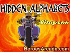 Simpsons Hidden Alphabet game