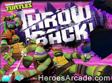 Teenage Mutant Ninja Turtles Throw Back game